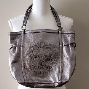 Coach Bronze Metallic Leather Shoulder Bag